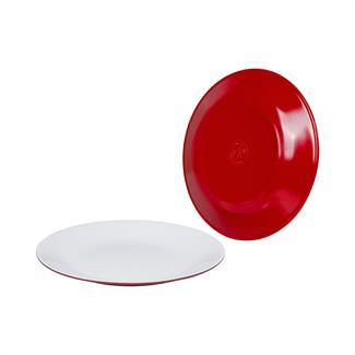 Bo-Camp Dinerbord melamine 2-tone rood