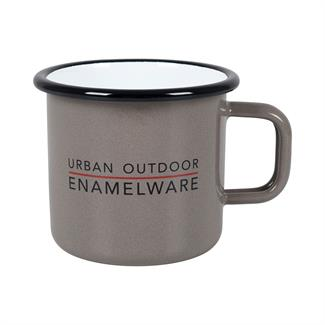 Bo-Camp Urban Outdoor Mok emaille d.8cm taupe