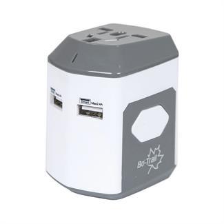 Bo-Trail Reisstekker Global met USB