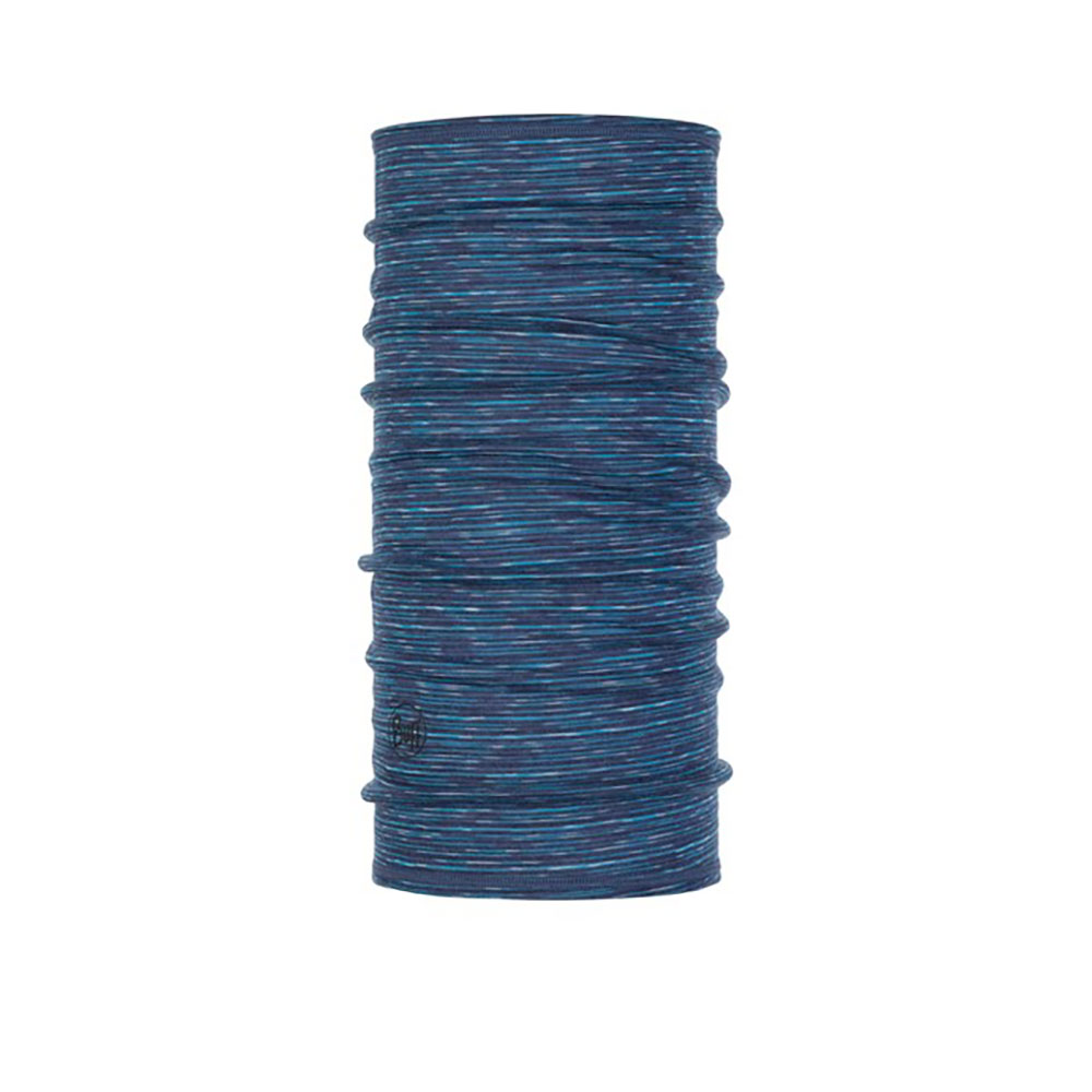 Buff 3/4 Lightweight Merino Wool Blue MultiStripes