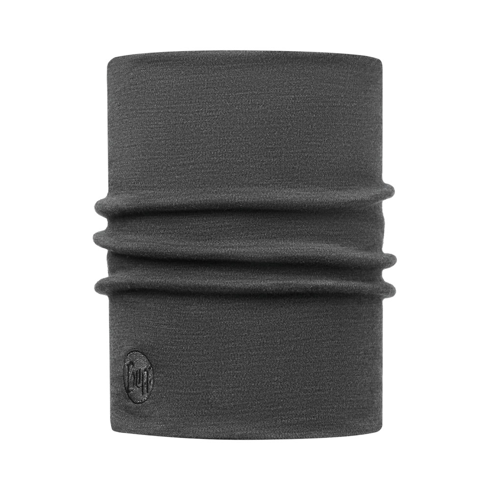 Buff Heavyweight Merino Wool Solid Grey Nekwarmer