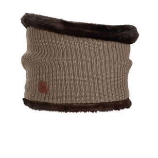 Buff Knitted Collar Adalwolf Brown Taupe