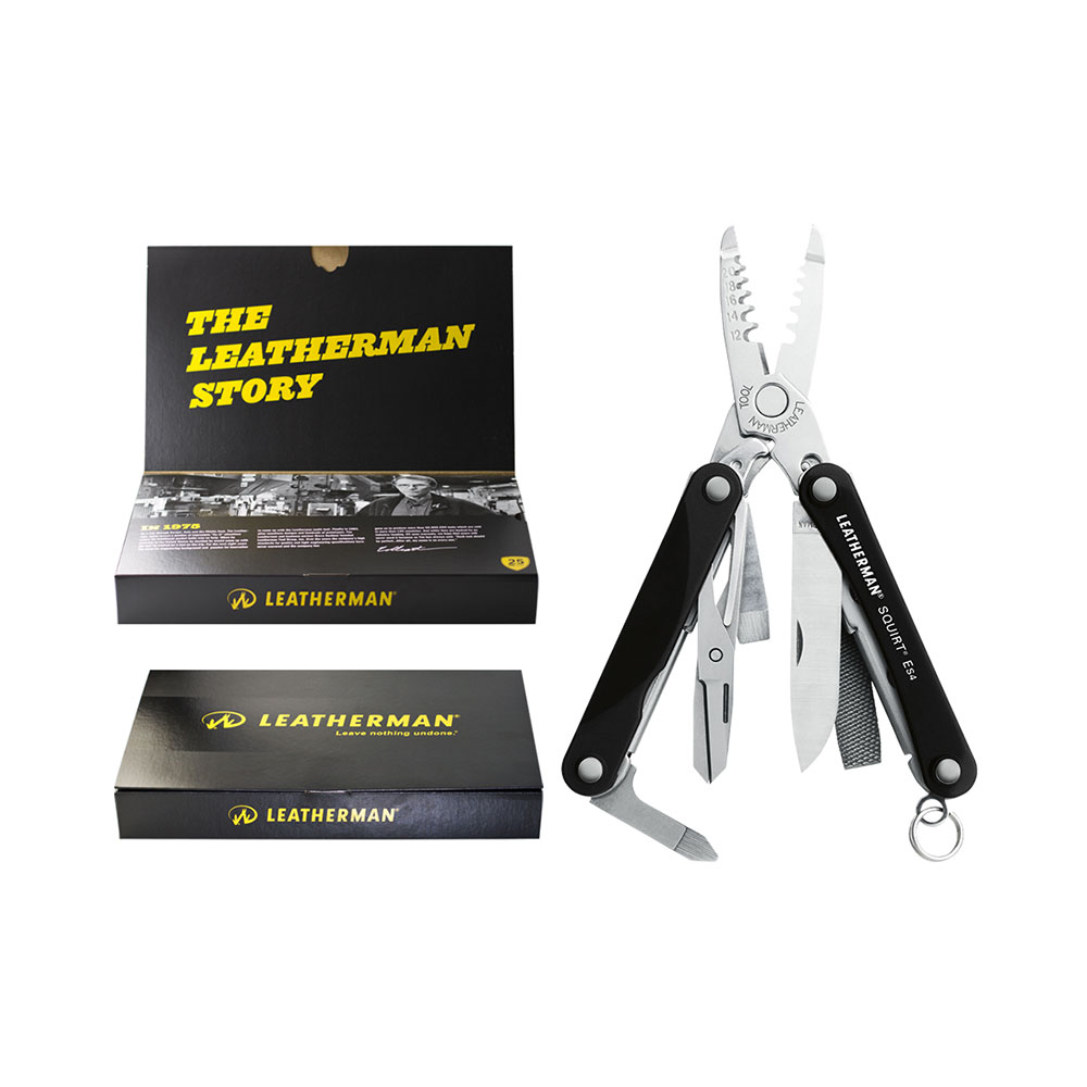 Leatherman Multitool Squirt ES4 Black Giftbox