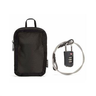 Pacsafe Prosafe 1000 combi lock with steel cable