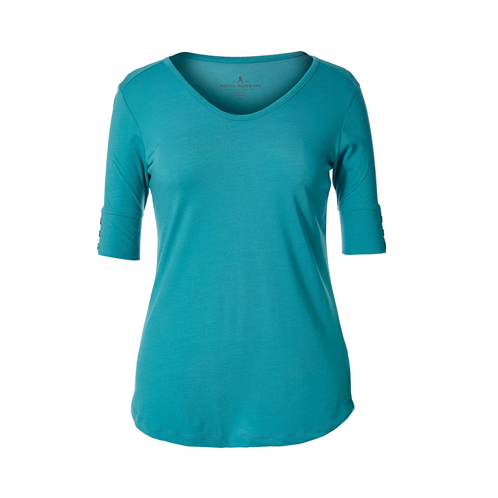 Royal Robbins W's Merinolux V-Neck Tee