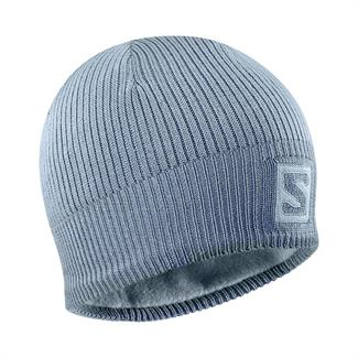 Salomon Logo Beanie Ashley Blue/ Bleu Gris Heren