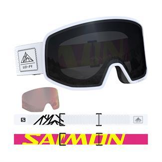 Salomon W's Lo Fi Black & White skibril